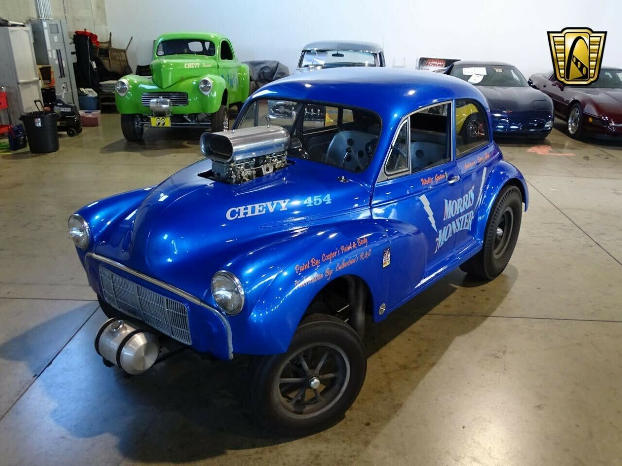 A meek Morris Minor is transformed with aggressive air intake.