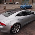 roof embedded solar panel | Fisker Karma at 2012 LA Auto Show