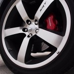 20x9 inch five-spoke polished aluminum wheels