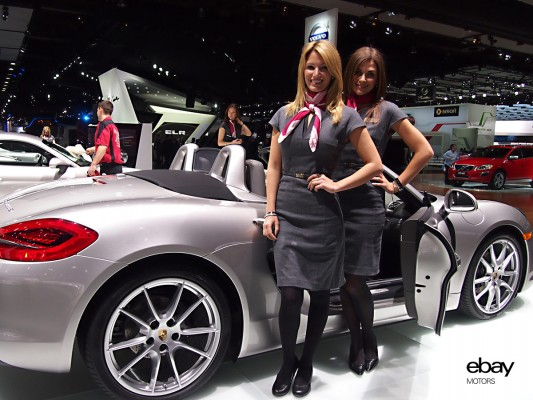 Danielle and Carrie representing Porsche at 2013 NAIAS Detroit ...