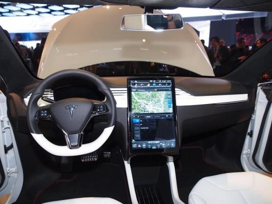 Tesla Model X Prototype Interior 17 Inch LCD Touchscreen