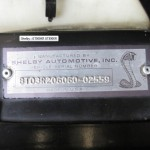 1968 Shelby Mustang GT500KR serial number tag