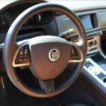 2013 Jaguar XFR steering wheel