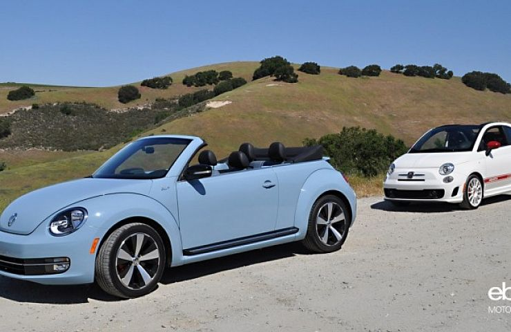 Review 2017 Vw Beetle Convertible Vs Fiat Abarth Cabrio