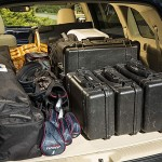 2014 Toyota Highlander Limited Platinum rear cargo area