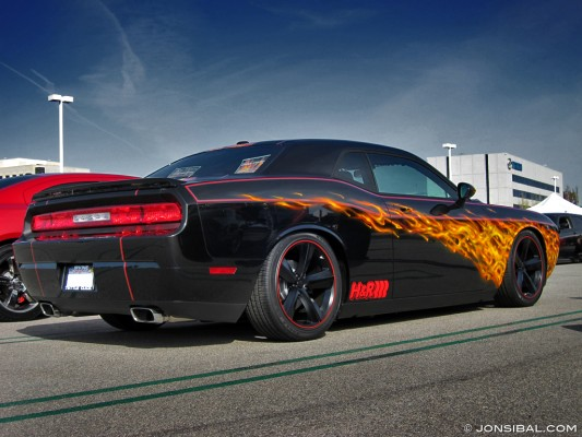 Beautiful 2009 Dodge Challenger True Fire Paint Scheme Designed By Jon Sib