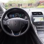 Lincoln MKZ Hybrid cockpit