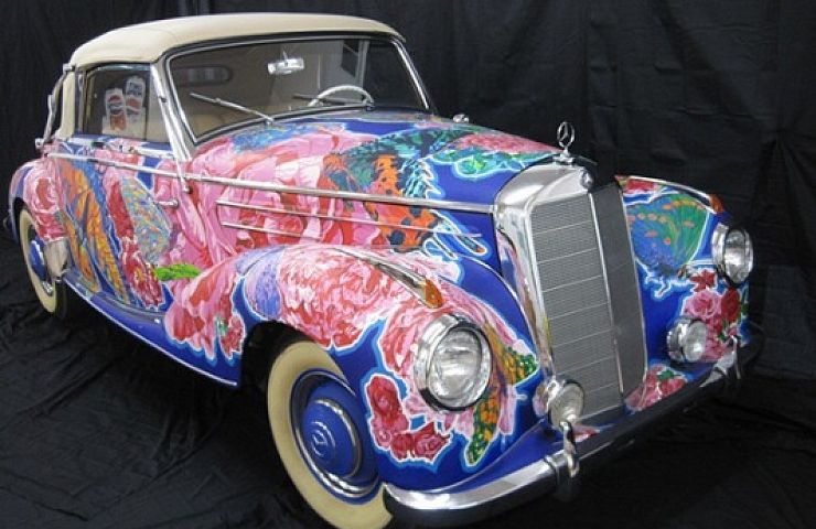 Famous Artist's Hand-Painted '52 Mercedes Available on eBay | eBay