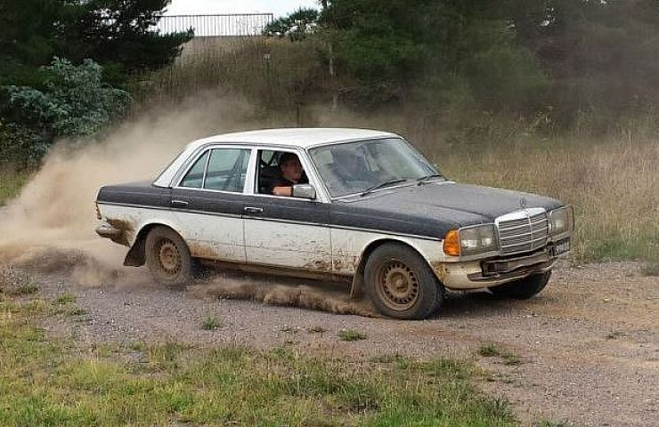 Australian Repair Shop Preps Mercedes 280e For Rally From