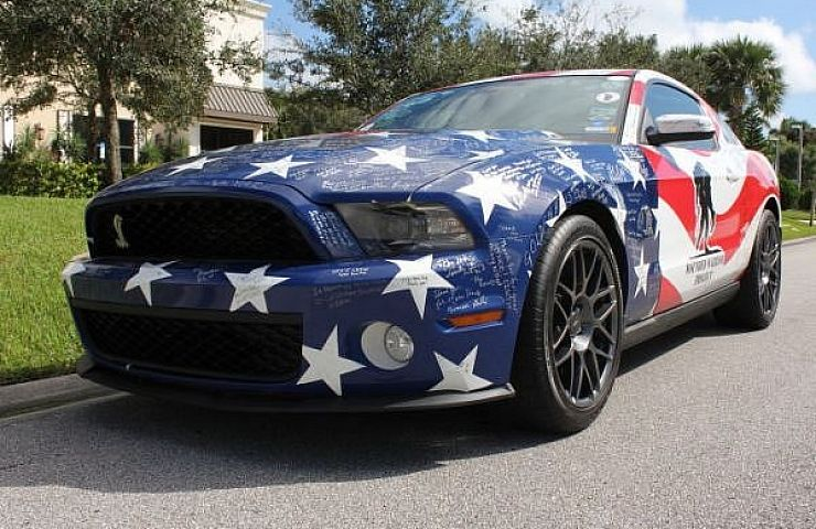 Charity auction shelby mustang signed by 2 000 wounded for Ebay motors mustang gt