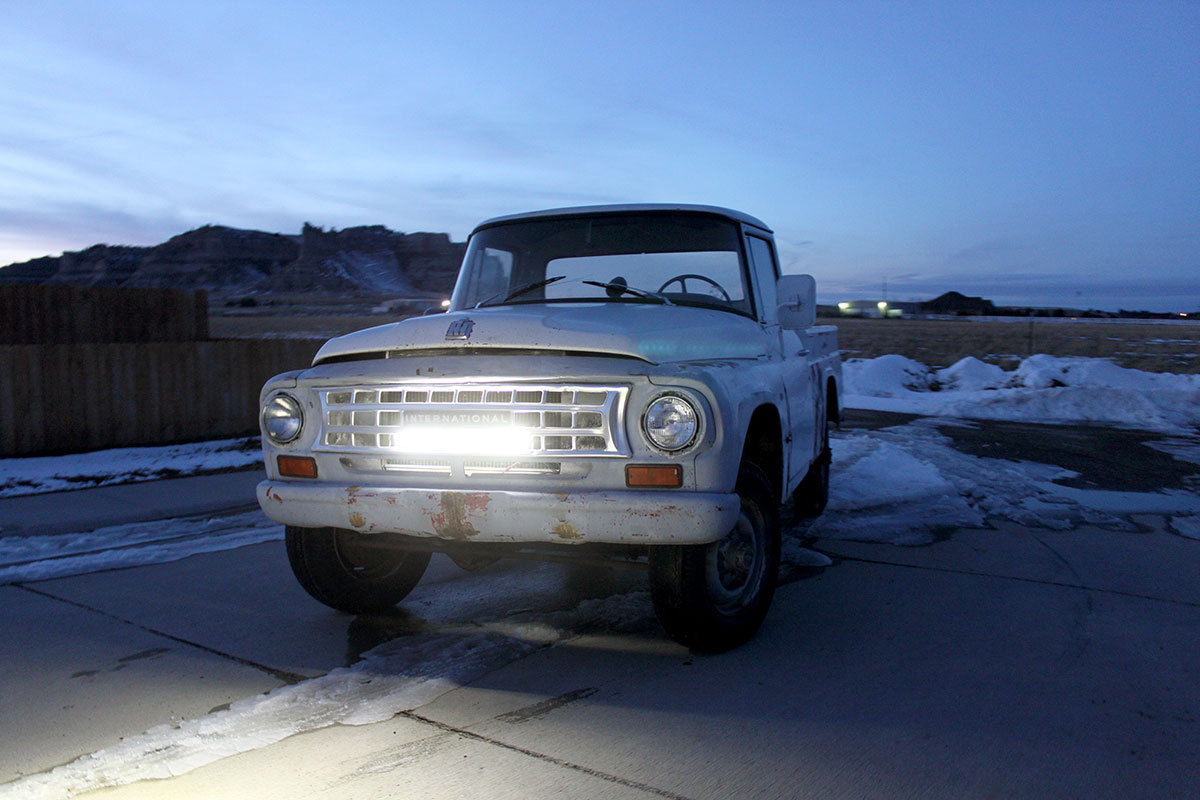 How a LED Light Bar Brightens Road for 1963 International Truck ...