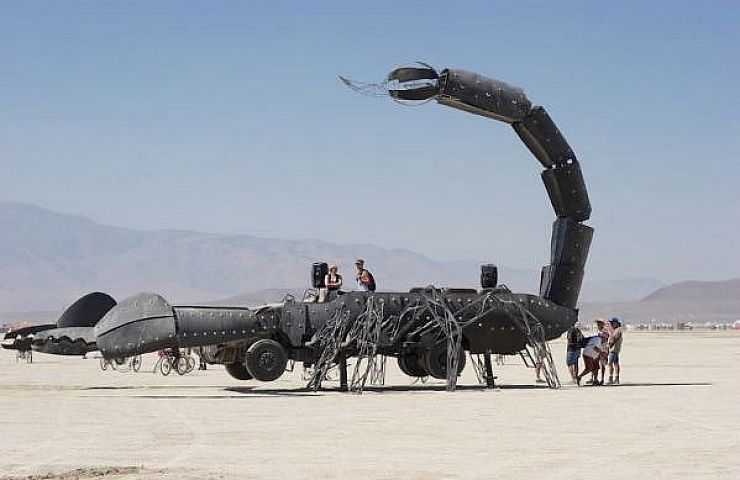 For Sale Burning Man S Flame Throwing Scorpion Art Car Ebay Motors Blog