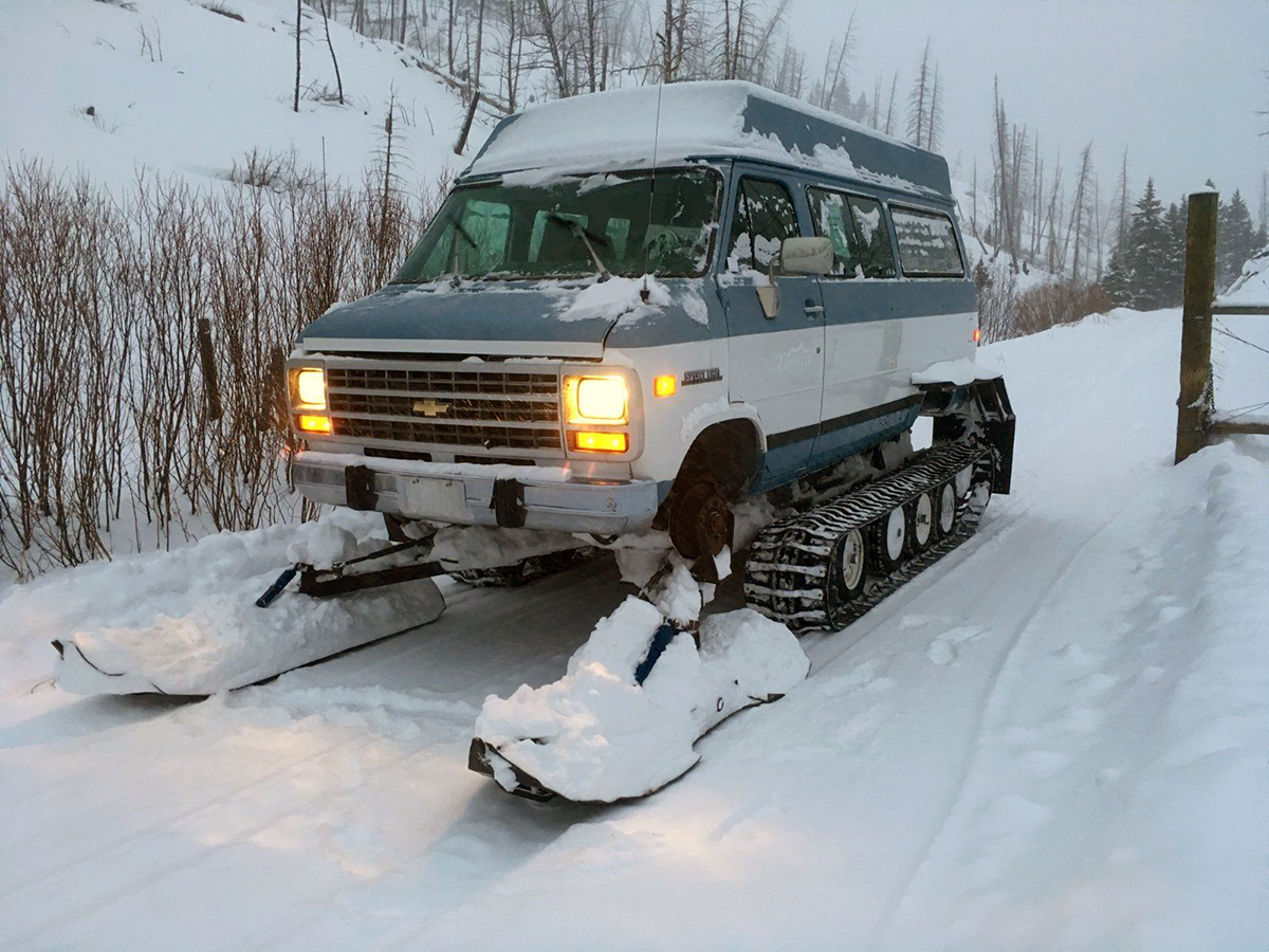 Chevrolet Van Snowcat Conversion Hails from Yellowstone | eBay