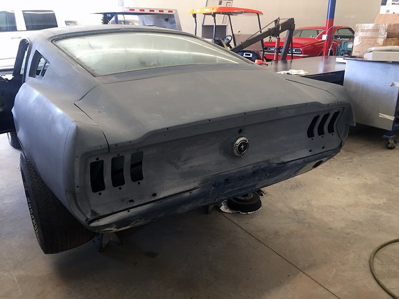 "This car has some truly good lines,"" said Rut. After purchasing the Mustang on eBay, it was hauled to Kenwood Rod Shop near Atlanta where much of the restoration work will take place. ""The biggest thing for a custom build is making sure that the lines in the car are aligned and true."""