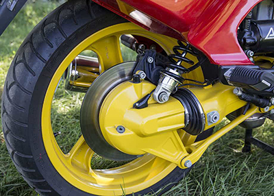 ABS came standard on all US K1s long before many automobiles were equipped with the braking technology.