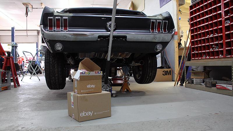 K C Mathieu Preps Paint Job For Ebay Motors 67 Mustang Fastback Ebay Motors Blog