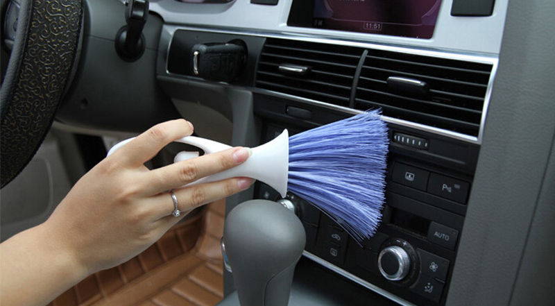 Brush for cleaning your car's interior
