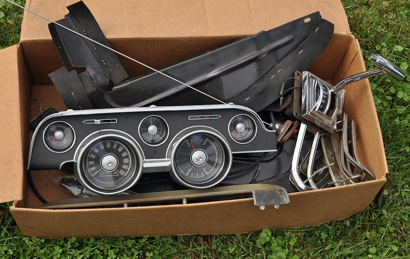Some cars come with parts that were previously removed or purchased for an abandoned project. While it might look like a bunch of junk at first glance, it could be a box full of automotive gold.