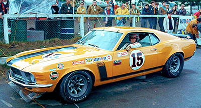 Parnelli Jones's pumpkin-orange Boss 302 Mustang