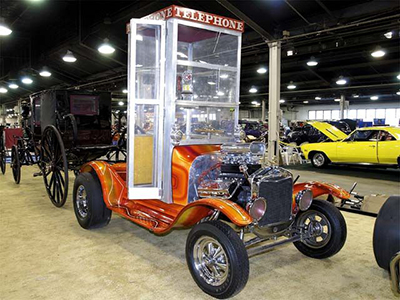 Carl Casper's car has a more upright phone booth and is a classic early 1960s show car.