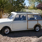 A Rare Classic Mini Woodie Wagon with a Killer New Stereo