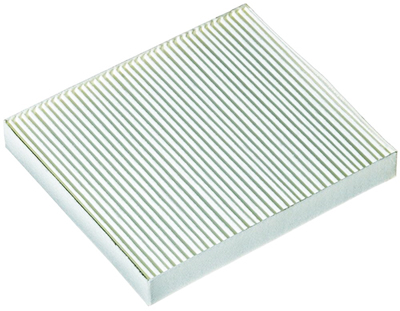 A basic paper cabin air filter