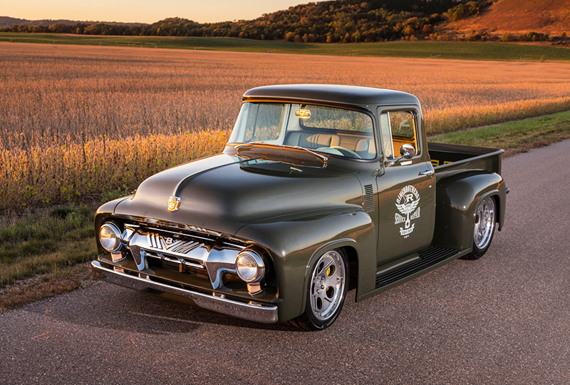 Despite its name, the 1956 F-100 is hardly your garden-variety shop truck.
