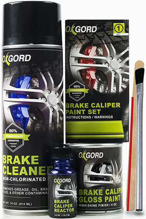 Brake caliper paint kits provide everything needed for a new great-looking finish.