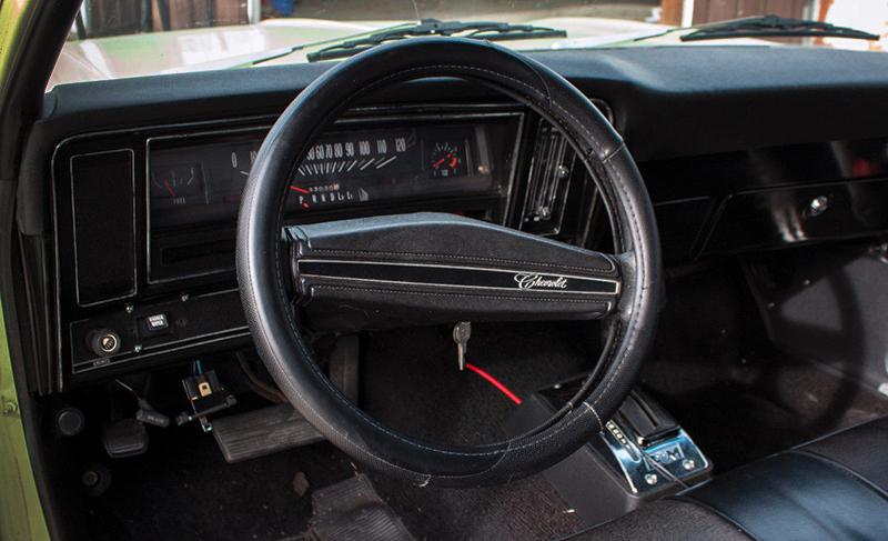 Steering wheel of 1974 Chevy Nova