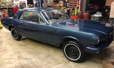 A 1965 Ford Mustang K-Code project car recently listed on eBay Motors