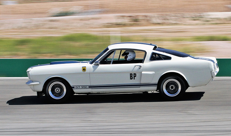 The Mustang is prepped for vintage race tracks.