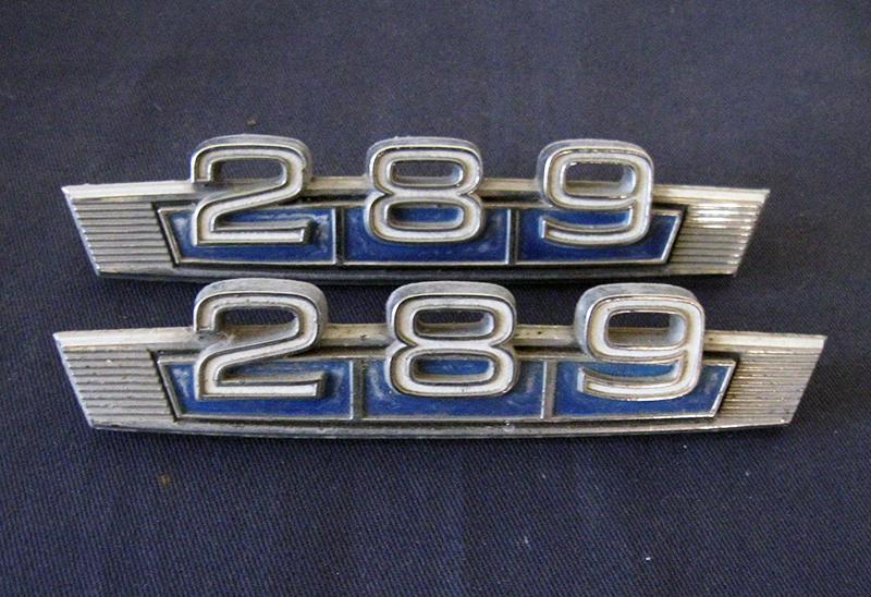 """Ford """"289"""" motor emblem"""