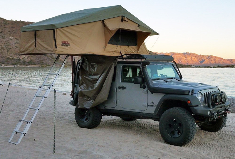 Tuff Stuff Elite Overland roof-top, five-person tent with annex room