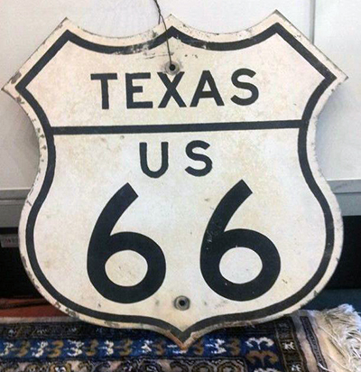 "Vintage ""Route 66"" sign"