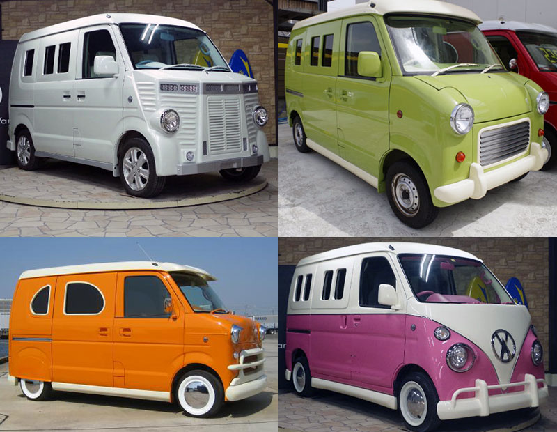 These modded Japanese kei vans are ready for import.