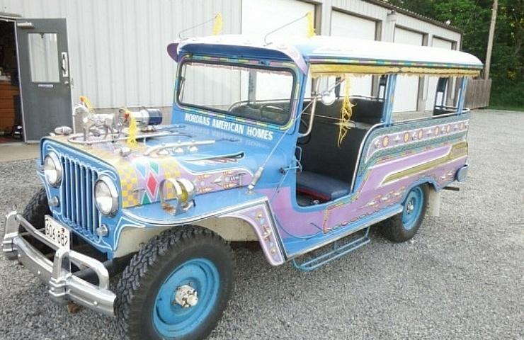 Philippine Jeepney For Sale Light Blue Lavender Bus Ebay Motors Blog