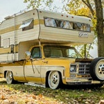 Slammed Chevy C-20 Scottsdale Is Ode '70s Truck-Campers