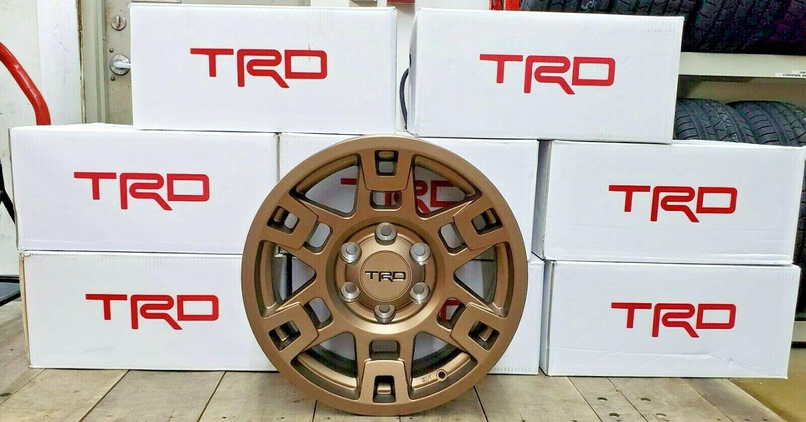 Bronze 17-inch TRD wheels
