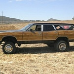 Bonkers 1972 Ford Wagon Hotrod Sits on a Dually Pickup Frame