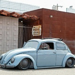 '56 VW Beetle Ragtop Becomes Wicked Lowriding Restomod