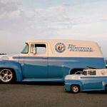 1956 Ford F-100 Panel Truck with a Mini-Me Go-Kart